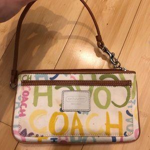 Coach colorful Wristlet